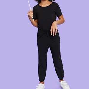 Other - NWT Girls Drawstring Waist Jersey Jumpsuit